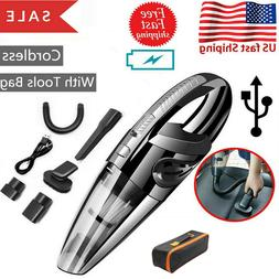 120W Auto Cordless Handheld Vacuum Cleaner Home / Car Cleani