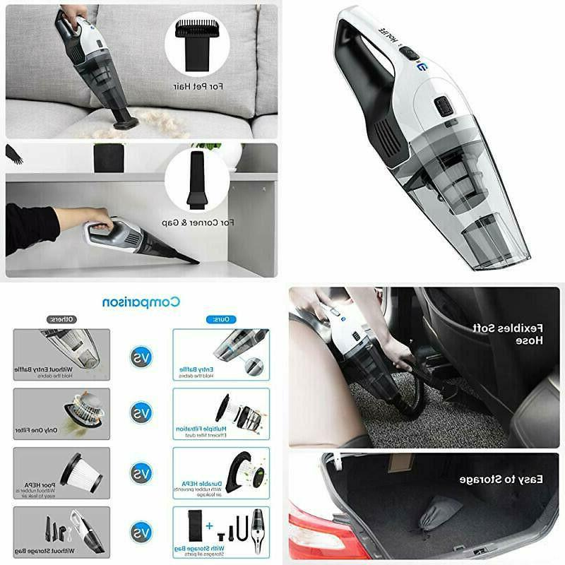 handheld cordless vacuum cleaner with 11 1v