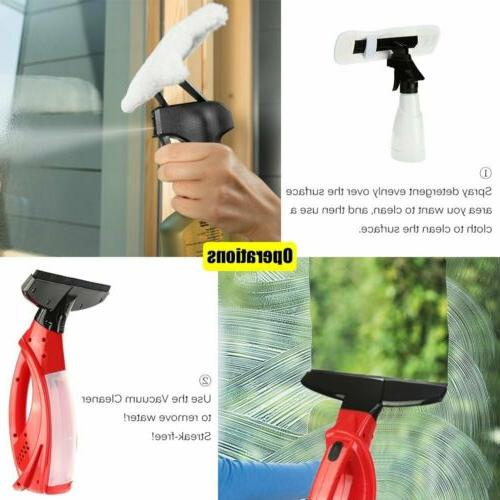 Vacuum Rechargeable Glass Cleaning Kits